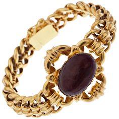 1STDIBS.COM Jewelry & Watches - Antique Garnet Bracelet in Original Box - Fourtane