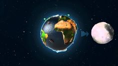 Animacja edukacyjna o lotach w kosmos