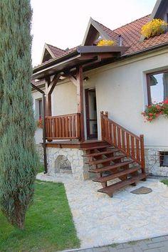 Schody zewnętrzne drewniane schody konstrukcja