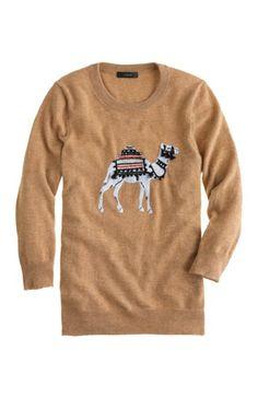 Camel sweater.