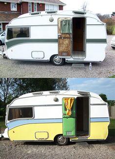 1960's Safari Caravan, before and after
