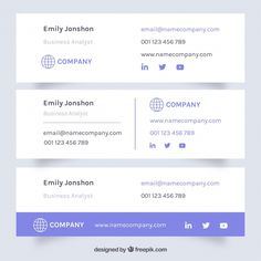 Email signature collection in flat style Free Vector Free Email Signature, Professional Email Signature, Html Email Signature, Email Signature Templates, E Signature, Email Templates, Signature Design, Signature Collection, Magazine Design