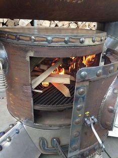 Klicke auf dieses Bild, um es in vollständiger Größe anzuzeigen. Bbq Pit Smoker, Diy Smoker, Barbecue Pit, Gas Bottle Wood Burner, Smoker Cooker, Custom Bbq Smokers, Diy Grill, Outdoor Oven, Smoke Grill