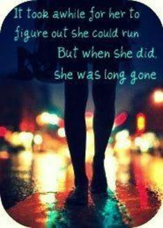 It took her a while to figure out she could run, but when she did she was long gone. #run #free