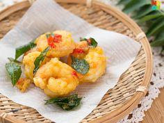Golden Salted Egg Yolk Prawns Recipe