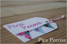 Etiquetas DIY con banderines de tela / DIY gift tag with fabric pennants