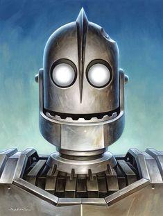 Jason Edmiston, The Iron Giant, Arte Robot, Cultura Pop, Illustrations, Comic Art, Science Fiction, Pop Culture, Concept Art