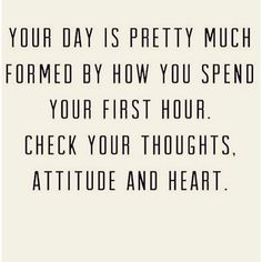 Ooh, exactly what is on my mind right now! Gotta start the day with a healthy frame of mind, yall!