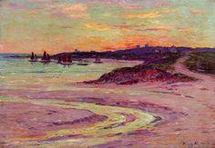 Henri Moret -   The Point de Lervily, Brittany     (1856-1913, France)