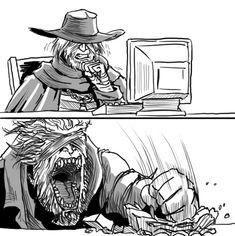 Bloodborne: Father Gascoigne browses the web by MenasLG.deviantart.com on @DeviantArt