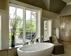 view 2 of 2 :: Valley View Home :: soaking tub with master bath access to balcony sitting area & sunning deck...