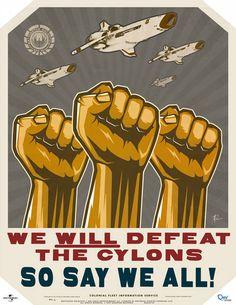 Battlestar Galactica - propaganda poster