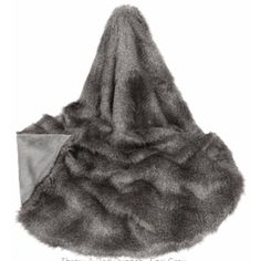 Earl Grey Faux Fur Throw ($325) ❤ liked on Polyvore featuring home, bed & bath, bedding, blankets, faux fur throws, grey faux fur blanket, grey throw, gray throw and grey bedding