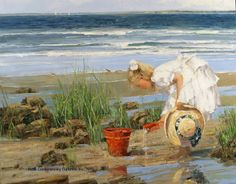 Pothast Paintings | ... beach scenes children playing contemporary american chase pothast