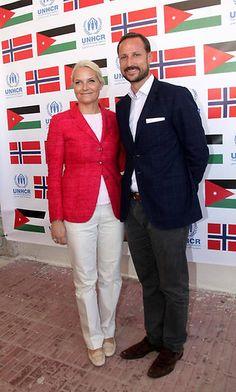 Oct 2014 in Jordan. CP Mette-Marit and CP Haakon of Norway