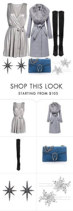 """""""Christmas party"""" by marasova94 ❤ liked on Polyvore featuring BB Dakota, Sentaler, Yeezy by Kanye West, Gucci, Federica Tosi and Matthew Williamson"""