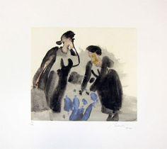 Serigrafia – JÚLIO RESENDE | RIBEIRA NEGRA - 40,0 x 38,0 cm | Numeradas de 1/150 a 150/150 (mancha 21,5 x 23,5 cm) | 310€