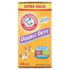 Arm & Hammer Double Duty Advanced Odor Control Clumping Litter 40lbs - Walmart.com