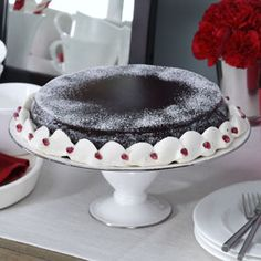 Dark Chcolate Flourless Cake in Taste of Home. Finally something gluten free that looks delicious! So excited to try this!