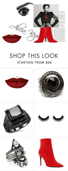 """""""Inspiration Alicia Keys #music  #jewelry #beauty #shoes"""" by carita-siren on Polyvore featuring Anastasia Beverly Hills, Metropark, BaubleBar and ALDO"""
