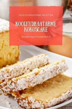 Koolhydraatarme Kokoscake – Heerlijk & Gezond This low-carb coconut cake recipe is not only very tasty as a snack or dessert. Healthy Cake, Healthy Baking, Healthy Desserts, Gourmet Recipes, Low Carb Recipes, Dessert Recipes, Desserts Sains, Snacks Sains, Good Food