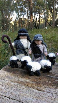 Crochet Dollies, Crochet Flowers, Crochet Angel Pattern, Crochet Patterns, Crochet Christmas Ornaments, Christmas Crafts, Crochet Crafts, Knit Crochet, Baby Donkey