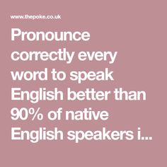 Pronounce correctly every word to speak English better than of native English speakers in the world English Study, English Words, Speakers, Nativity, Verses, Teaching, World, Shopping, Christmas Nativity
