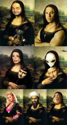 The many face of Mona Lisa.