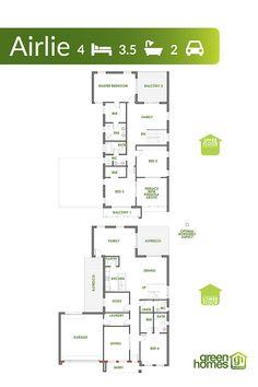 Airlie Home Design 4 beds baths 2 car parks Car Parks, Green House Design, Bedroom Balcony, Energy Efficient Homes, Australian Homes, Al Fresco Dining, Home Builders, Baths, Terrace