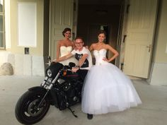 Saying nite to all, and thanks for stopping by our page!! This is a gorgeous Eleonor gown, and Love the Harley-Davidson
