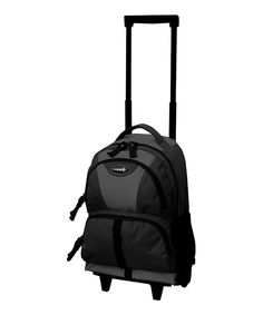Look at this Black Junior Wheeled Backpack on #zulily today!