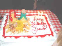 Happy Birthday Jesus! Christmas Eve having a Birthday cake for Jesus
