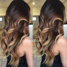 Caramel and Honey Blonde Balayage Highlights