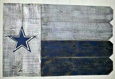 Dallas Cowboys pallet flag