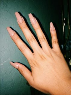 beige, nails, tumblr, coffin nails - image #3054741 by helena888 ...