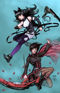 RWBY: Blake and Ruby by *TheRogueSPiDER on deviantART