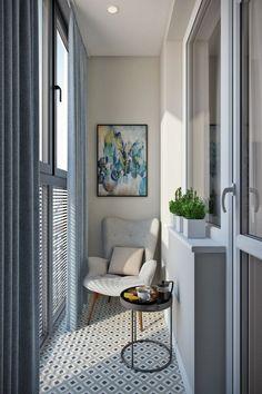 Фотография: Балкон в стиле Современный, Квартира, Проект недели, Москва, Дарья Ельникова, Монолитный дом, 2 комнаты, 40-60 метров, ЖК «Кристалл» – фото на InMyRoom.ru