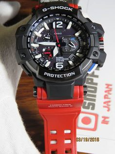 G-Shock GravityMaster Rescue Red Series G Shock Watches Mens, Casio G Shock, Cool Watches, Men's Watches, Casio Vintage, New G Shock, Global Positioning System, Steampunk Weapons, Nerd Chic
