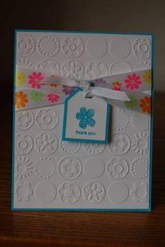 Simple embossed Thank You by CraftCrazy98 - Cards and Paper Crafts at Splitcoaststampers
