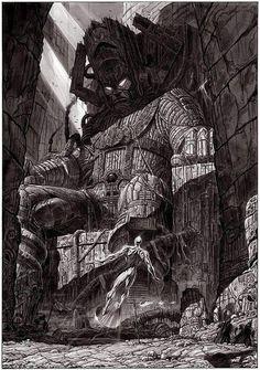 giorgio comolo; galactus & silver surfer #illustration #drawing #comic