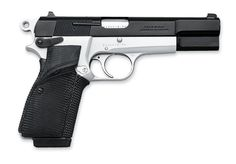 The Browning Hi-Power is a single-action, 9 mm semi-automatic pistol.