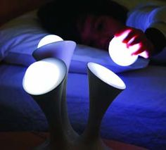 Portable Nightlight Globes - just grab one to find your way to the bathroom in the dark, pretty cool :)