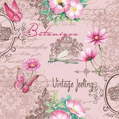 napkins / motives,  Other - writings,  Animals - butterflies,  Flowers - other,  Summers,  lunchnapkins,  flowers,  butterflies,  words