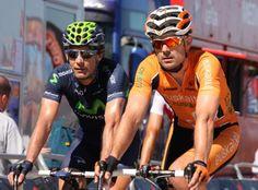 Iván Gutiérrez (Movistar) and Pablo Urtasun (Euskaltel)
