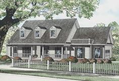 Cape Cod Country House Plan 82105 Elevation