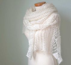 Crochet pattern Luna shawl PDF