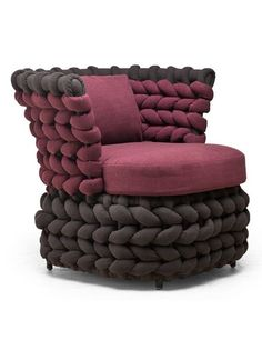 Club upholstered armchair ZIGGY by KENNETH COBONPUE #design #interior