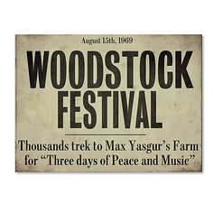 Color Bakery 'Woodstock Canvas Art