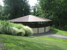 This is our August 2019 Special, Covered Round Pen high walls. Visit our website for pricing and more details. Dream Stables, Dream Barn, Horse Stables, Horse Farms, Round Pens For Horses, Horse Walker, Horse Arena, Types Of Horses, Horses