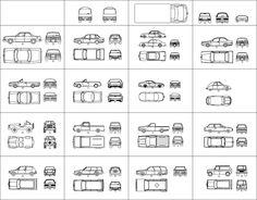 IDEARK_CALI. Softwares aplicados a diseño, ingenieria y arquitectura.: Simbologia y representación arquitectónica. (bloques en planta, alzado lateral y frontal).